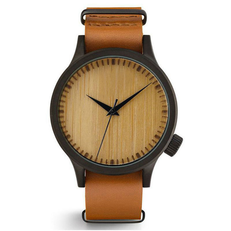 Simple Style Leather Strap Quartz Analog Wood Watches For Women And Men Fashion Gift Watches Bracelet Watches фото