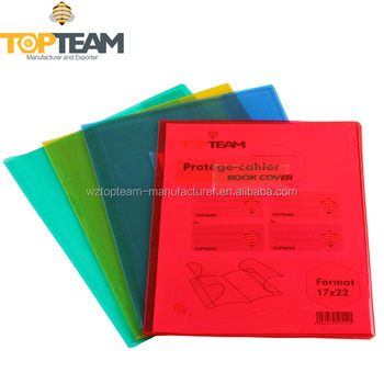 Pvc Color Clear Book Cover With Inner Flap,Vinyl Book Protector ...