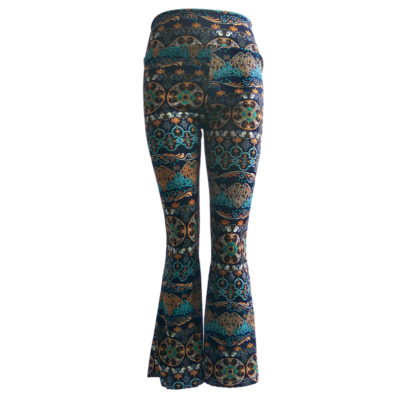 Wholesale Women's New Design High Waist Pants Casual Yoga Long Trousers Palazzo Wide Leg for Women