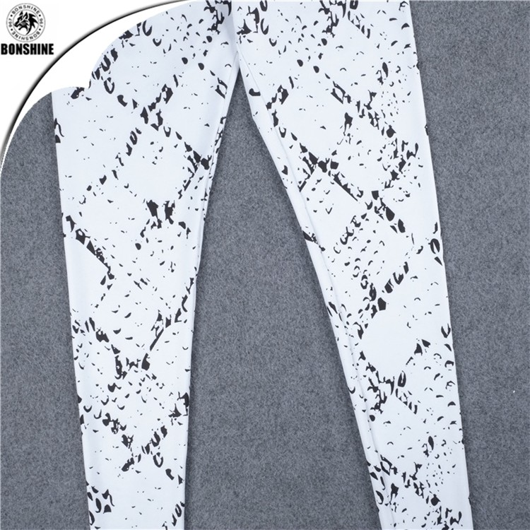 Outdoor sports fitness suit net yarn stitching python printed elasticity vest trousers two piece sets for women