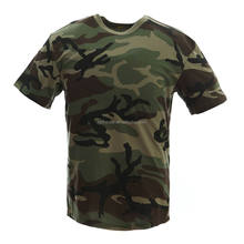 Woodland camo Fashion Cheap military t shirts wholesale
