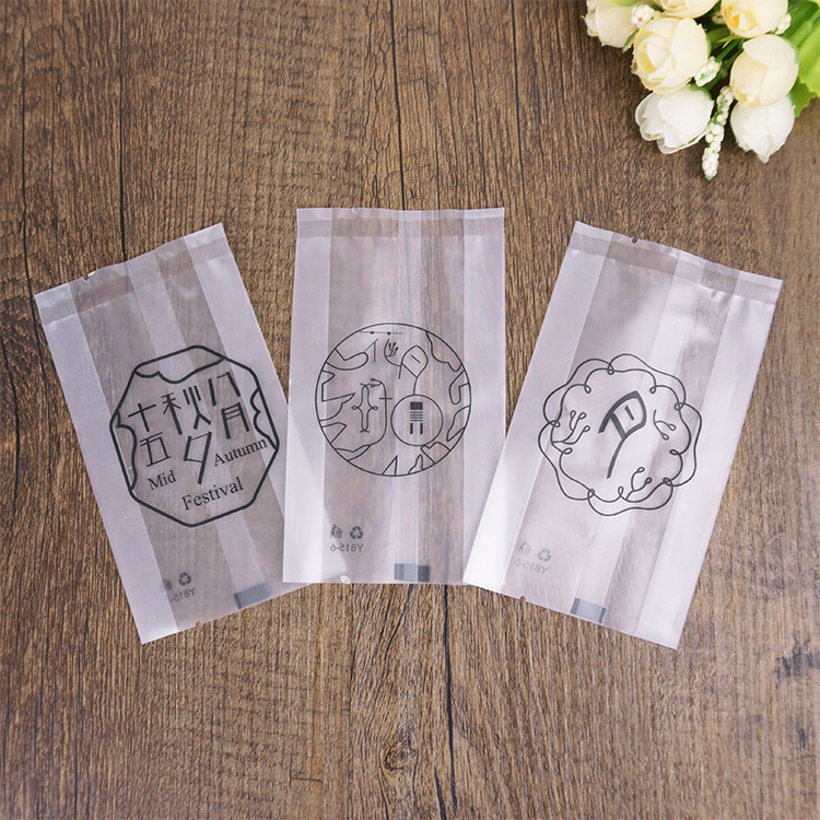 Heat Sealing Customized Plastic OPP Moon Cake Bag In Packaging Bag