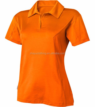 Dry fit cool fitness women comfortable polo t shirts in mix color