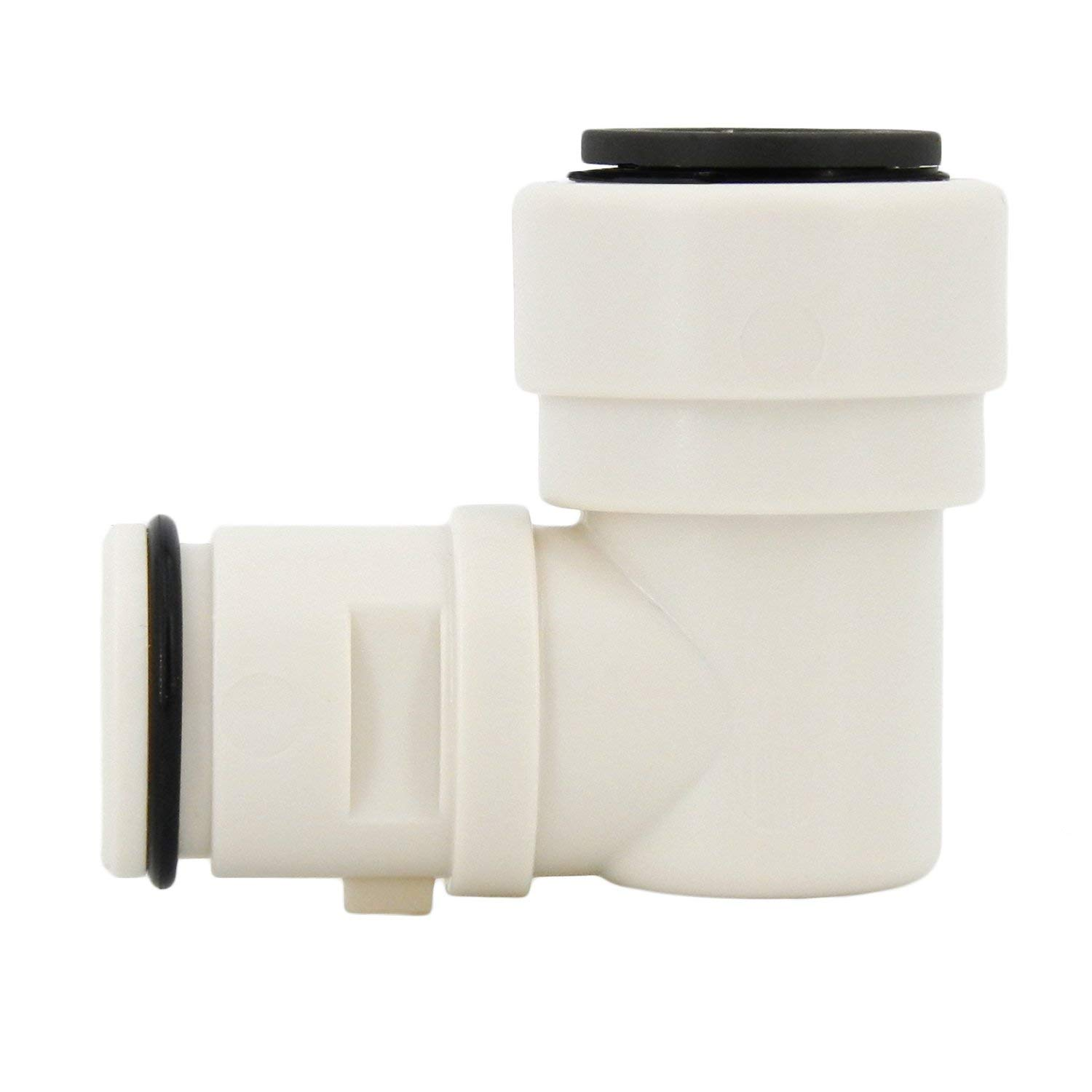 "Hydro-Logic 1/2"" Quick Connect Feed Fitting for Merlin GP & Evolution-RO1000, White"