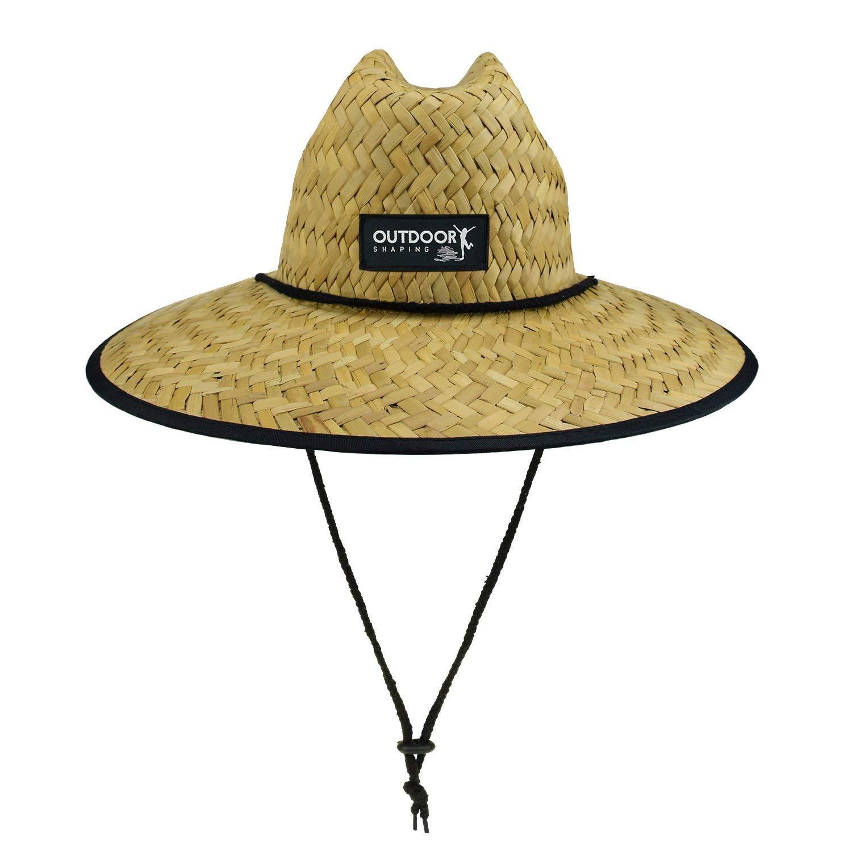 b54a8b3f15f Get Quotations · OUTDOOR SHAPING Men s Summer Beach Straw Sun Hat Lifeguard  Hat