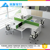 high quality 4 seats office table designs in wood KL-09