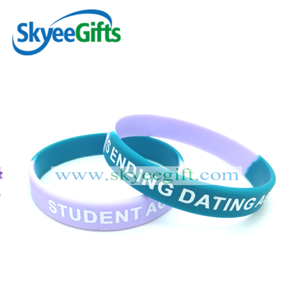 custom friendship silicone bracelet wristband for college promotion
