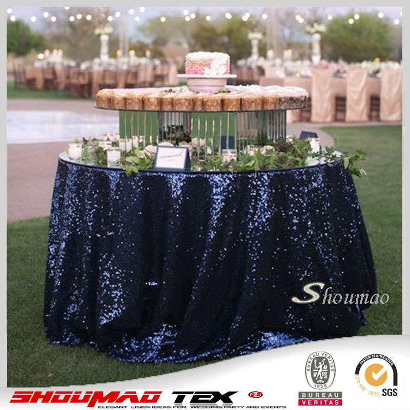 Classical Glitter Sequin Table Cloth Navy Blue Beaded Table Cloth   Buy  Beaded Table Cloths,Sequin Table Cloth Beaded Table Cloth,Classical Glitter  Sequin ...