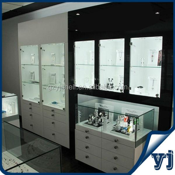 Factory Wood Glass Living Room Showcase Design/Glass Door Display Wooden  Cabinet/Glass Wooden