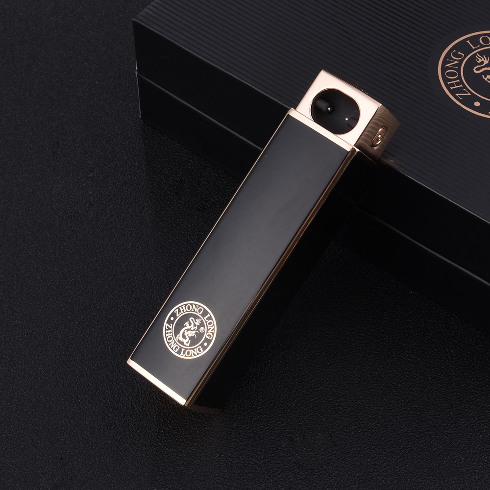fashion slim original wallet laser custom logo rechargeable electric arc metal windproof usb charging lighter