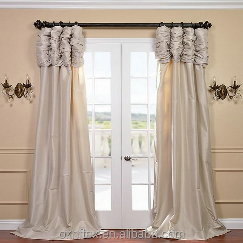 damask white curtains embroidery fabric with pearls