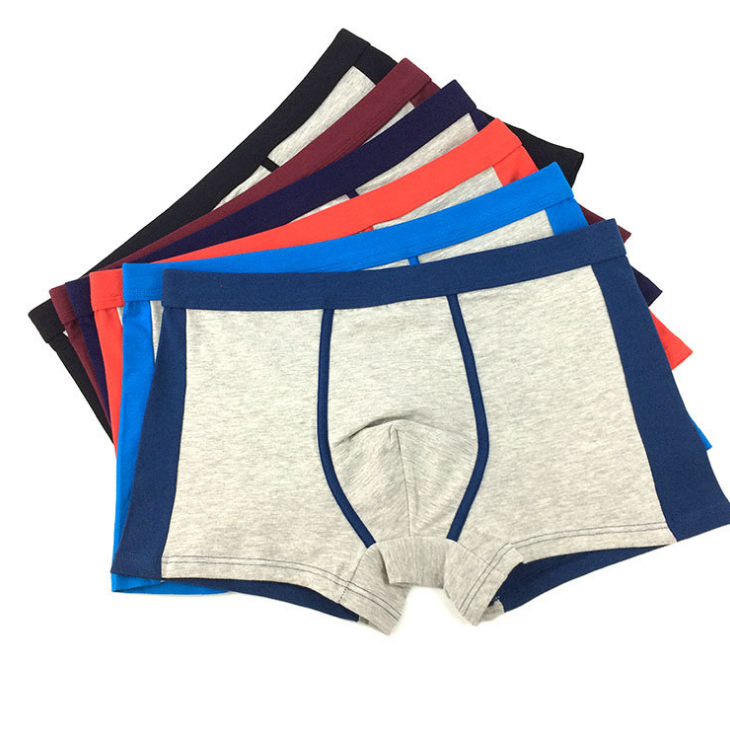 Boxers Mens Underwear Cotton Boxer Shorts Leisure Underpants Man Comfy Side Open Trunks Drawstring Homewear Cueca Male Pocket Panties