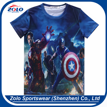 China factory seller low price kids cartoon design t-shirt