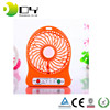 High quality plastic led light usb mini fan small table fan rechargeable mini fan