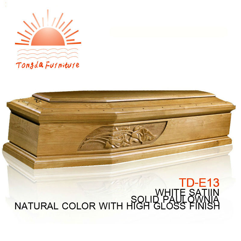 TD-E13 Wholesale wooden coffin dimensions