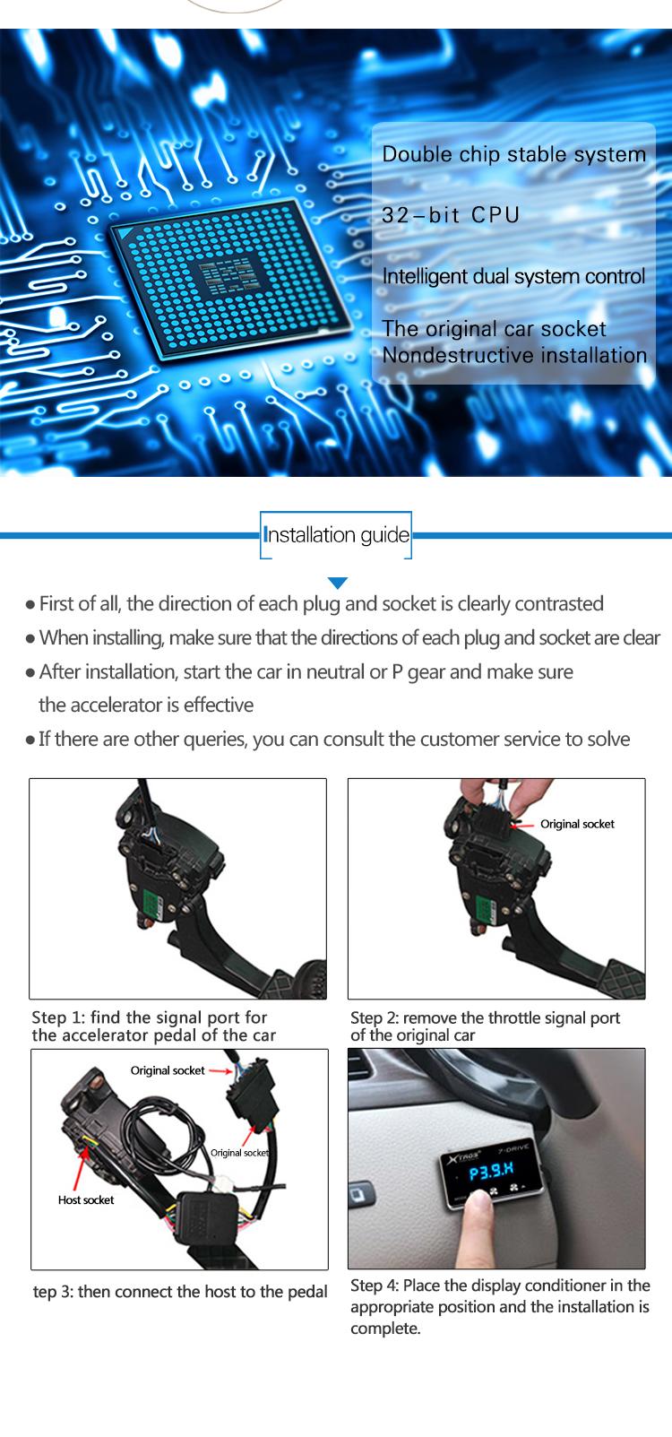 Potent Booster ECU reparatur software gas actuator control modul reduzieren motor kohlenstoff ablagerungen