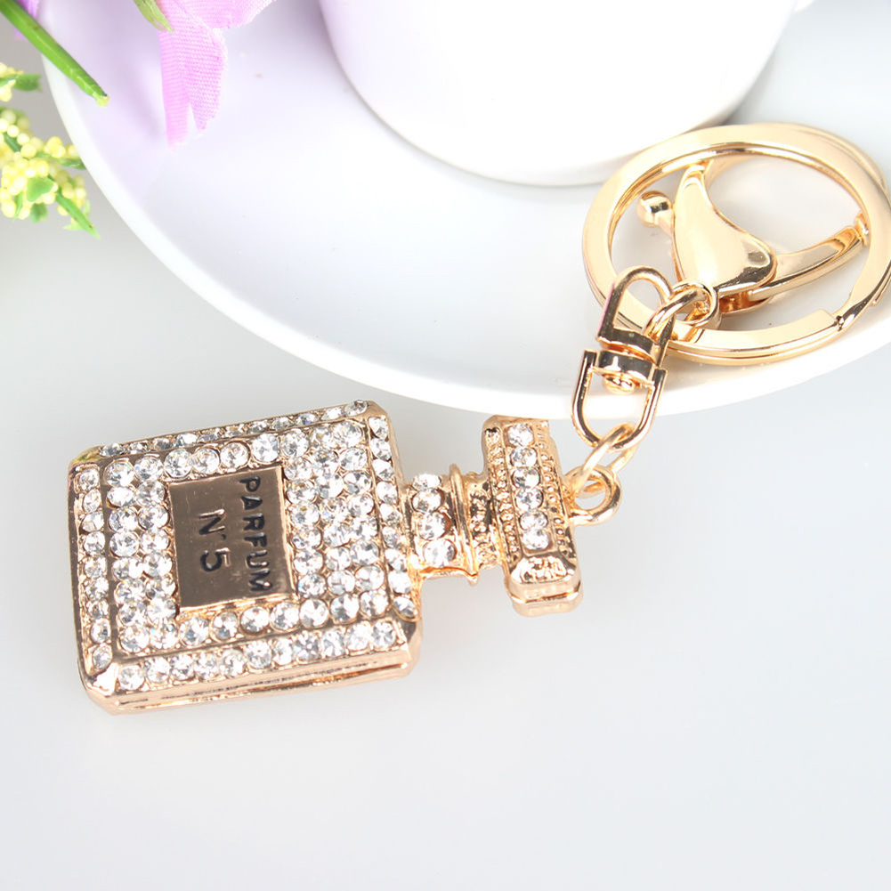 93c36aad2861 Crystal Perfume Bottle Keychain Fashion Key Chain Ring Holder Women Bag&Car  Accessories Inventory Clear Warehouse Big Promotion Keyrings Uk Bottle  Opener ...