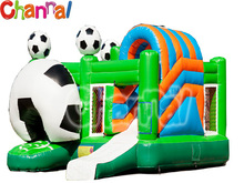 football muti play inflatable air jumper bouncer combo slide