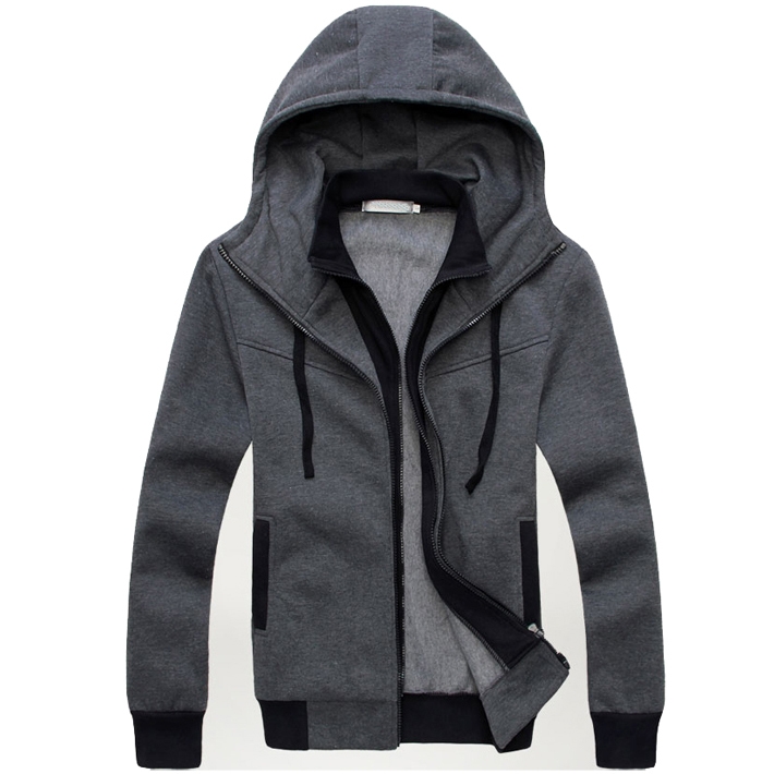 2014 New Arrival Mens Hoodies And Sweatshirts Casual Long Sleeve Hooded Zipper Pullovers Moleton Masculino  MWW225