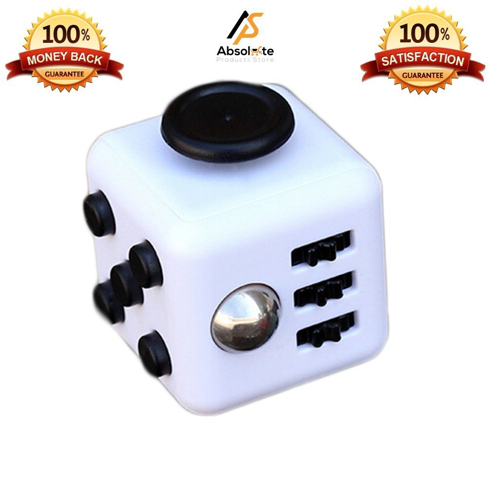 Generic Official Fidget Cube | Anti-anxiety Cube | Anti-Depression Toys | Helps To Relieves Stress, Anxiety and Boredom | Stress Cube for Fidgeters | Anti-Depression Toys