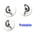 hot G shape one ear curl cord listen only earpiece, listen only earplug, listen only earphone