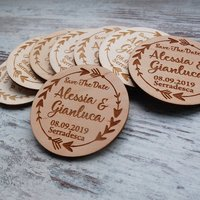 Laser cut plywood discs round wood disc custom engraved logo 5cm