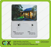 pvc hotel key card following client customization for ShenZhen maker