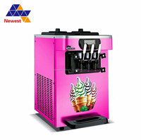 Table top 1600W ice cream maker/commercial ice cream makers for sale/soft serve ice cream machine