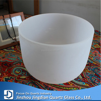 Frosted transparent Crystal quartz crucible(singing bowl)
