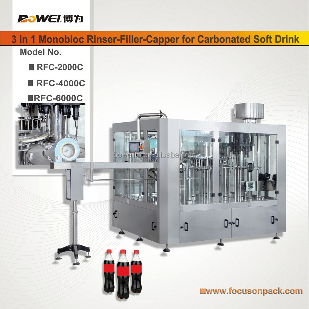 """Food And Beverage Machinery"" 3 In 1 Water Riser Filler Capper Machine Automatic Plastic Bottle Mineral Water Filling"