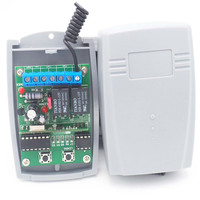 433Mhz Smart Home 2 Ch Wireless Relay RF Remote Control Switch 12v Transmitter and receiver