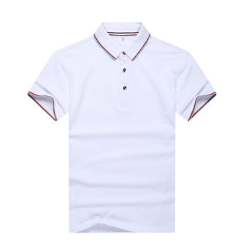 2018 New design 100% Cotton color combination double layers collar design polo shirts