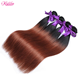 Full Cuticle Aligned Silky Straight Hair Ombre Color #1B/33 Brazilian Hair Weave