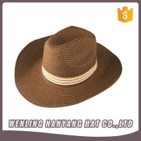 Brim Cowboy Hat Unsex Stylish Women Sun Hat Knitted Hat