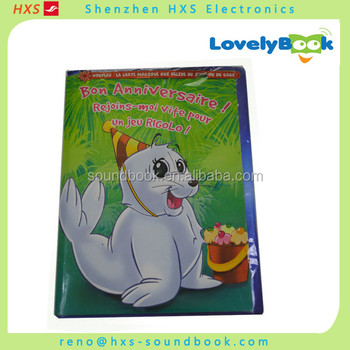 Hot sale voice reocding sound greeting card manufactuer