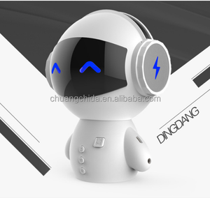 2017 Best Gift Light power bank Robot Wireless Speaker with FM radio