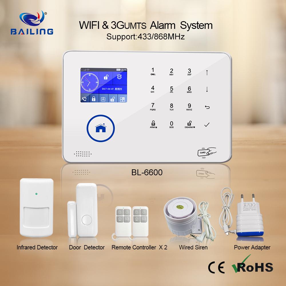 Intelligent Alarm System Wifi Gsm 3g Umts Wireless Home