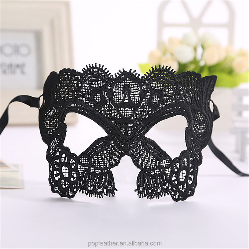 PM-0127 wholesale sexy women catwoman black Lace mask for Masquerade