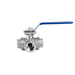 General Stainless Steel High Mounting Pad 3 Way Screw Ball Valve