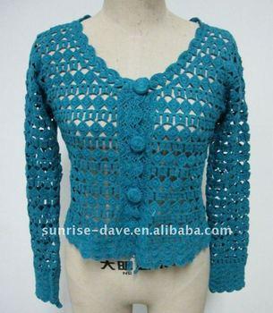 Crochet Womens Fall Long Sleeve Sweater Buy Crochet Womens