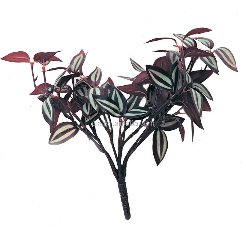Artificial purple wandering jew plants for green wall decoration