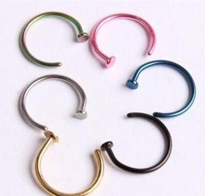 Stainless Steel Nose Studs Ring Hoop Body Piercing Jewelry Gift