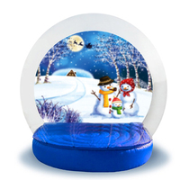 Custom china cheap Christmas snow globe romantic inflatable snow globe with blowing snow