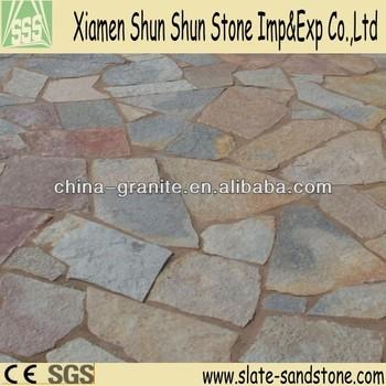 Natural Rusty Slate Interior Flagstone Floors
