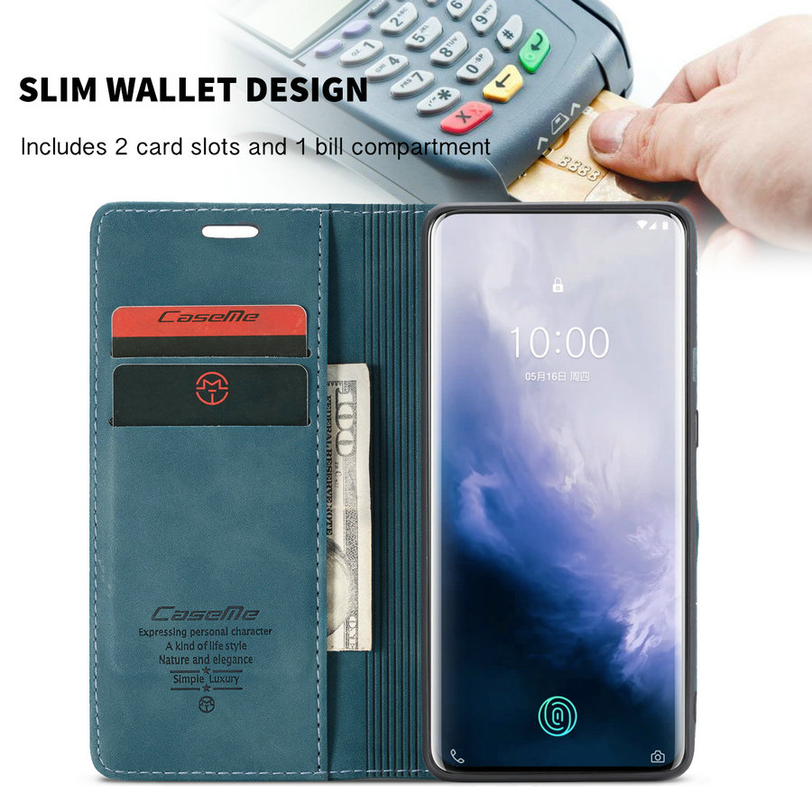 CaseMe Card Slots Flip Wallet Phone Case  For Oneplus 7 pro case Leather Cover Case For Oneplus 7