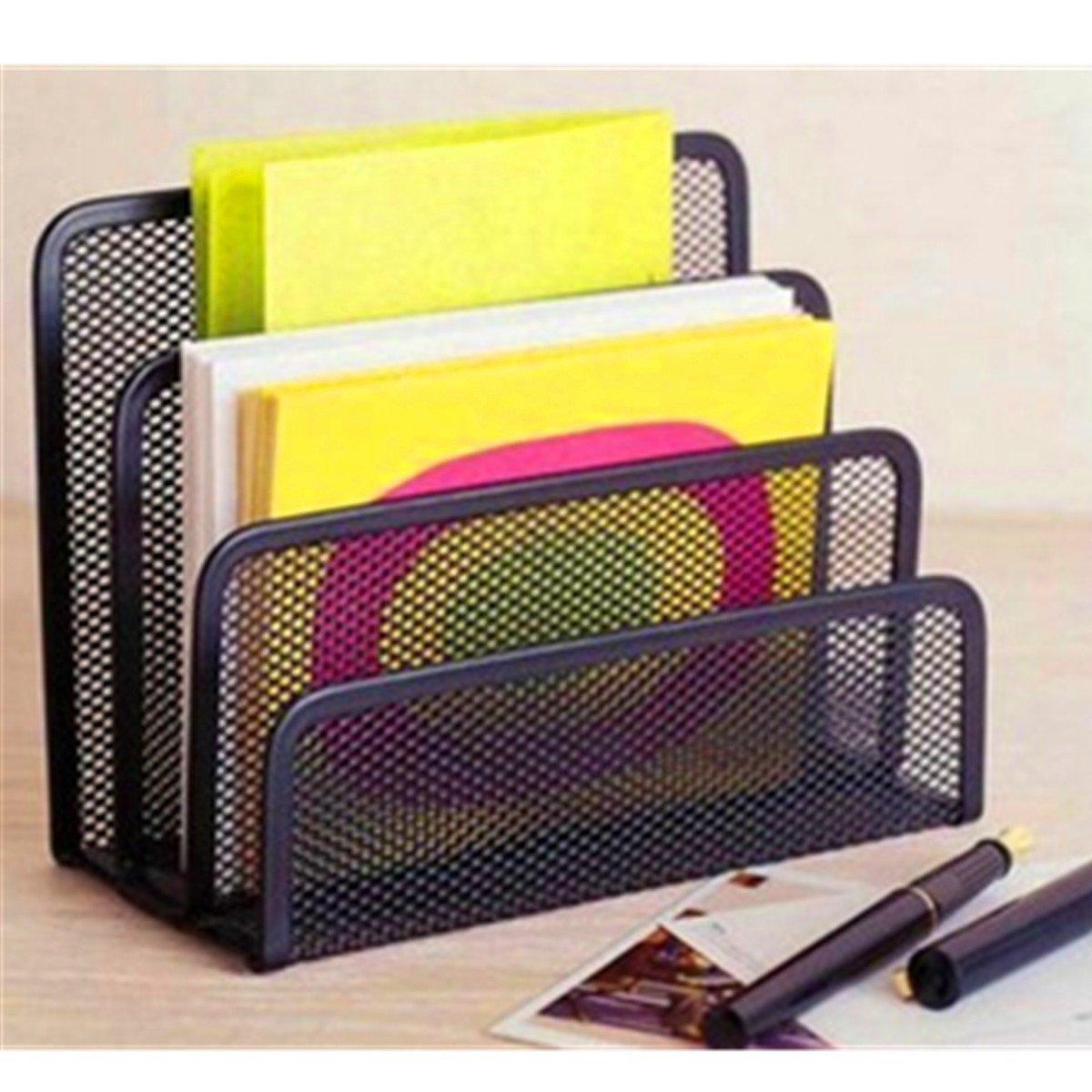 Black Office Barbed Wire Three-letter File Format Books Notepad Holder // Alambre de púas negro oficina titular libros de formato de archivo de notas de tres letras