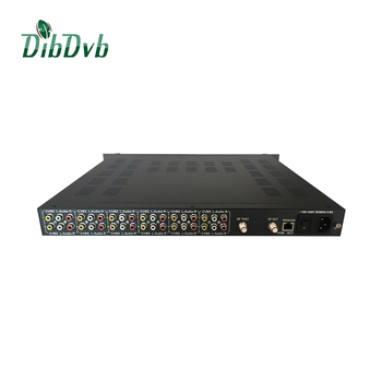 up to 12 chs av to rf modulator for catv headend with mpeg-2/h.264 encoder