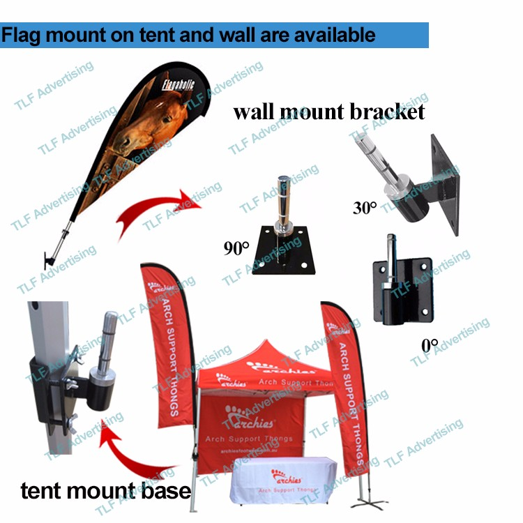 Flying Style and Printed Type Feather Flying Teardrop Banner Flag