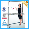 Moveable revolve conference aluminum frame double sided magnetic whiteboard