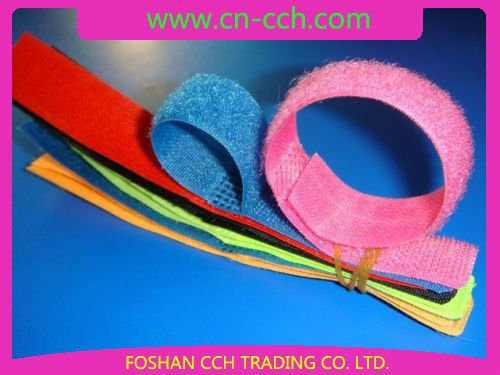 "3/4""x8"" 20x200mm colourful All purpose Hook and loop binding band"